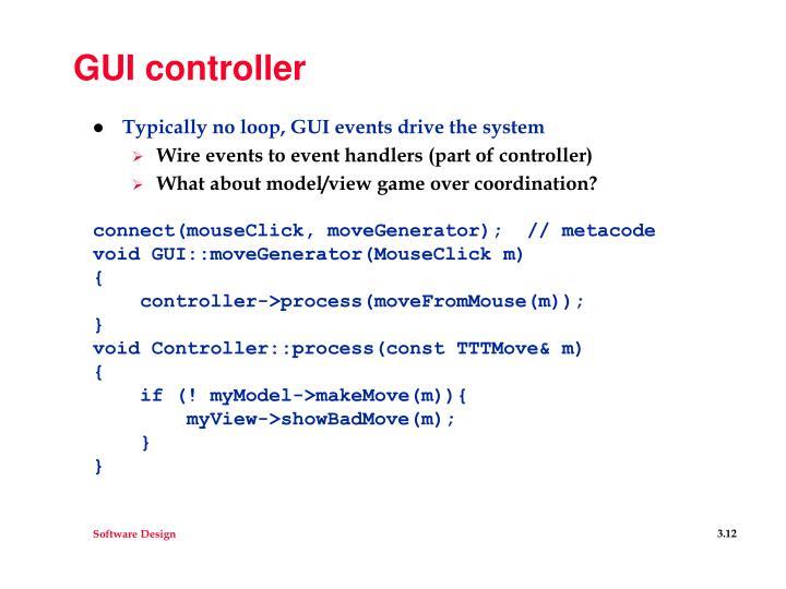 GUI controller