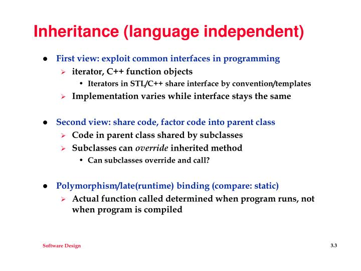 Inheritance language independent