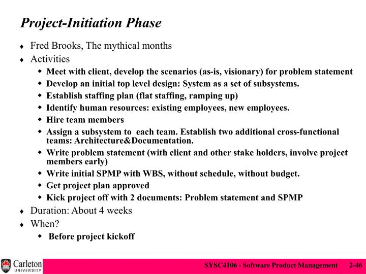 Project-Initiation Phase