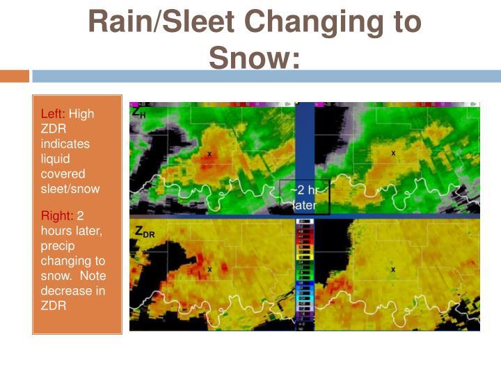 Rain/Sleet Changing to Snow: