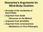 descartes s arguments for mind body dualism