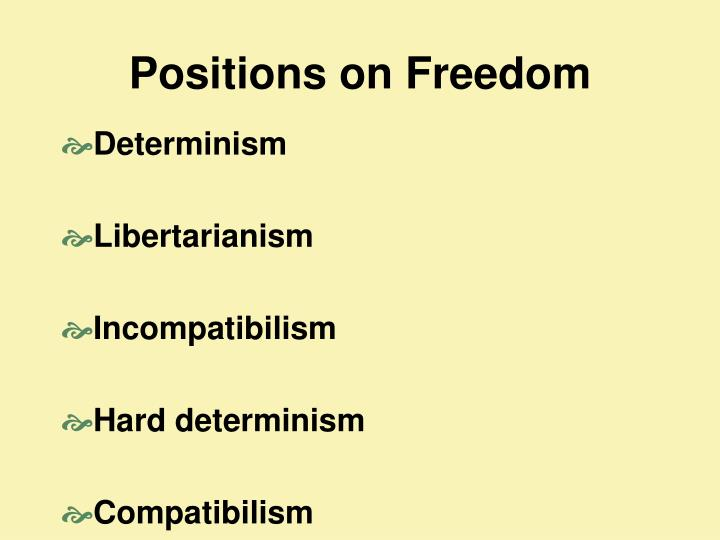 Positions on Freedom
