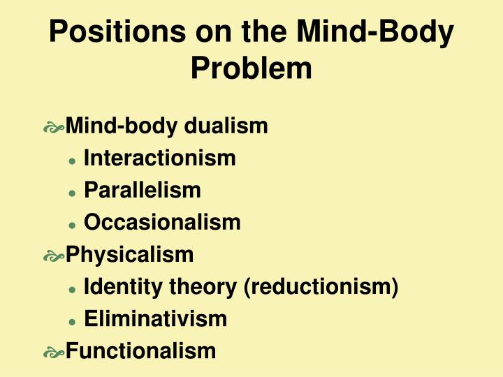 Positions on the Mind-Body Problem