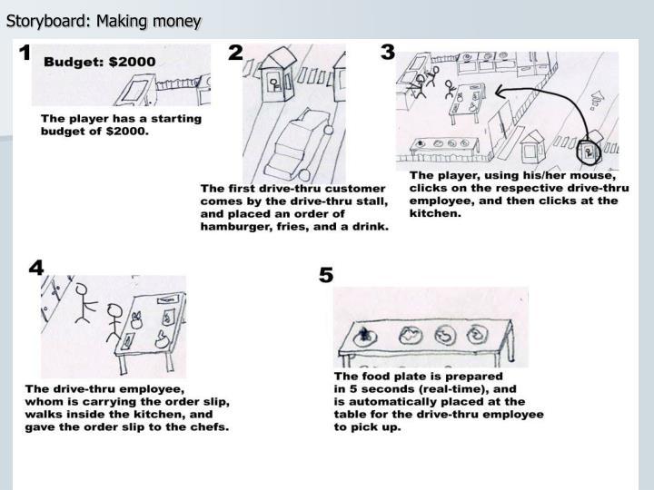 Storyboard: Making money