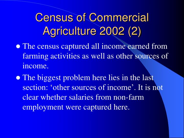 Census of Commercial Agriculture 2002 (2)