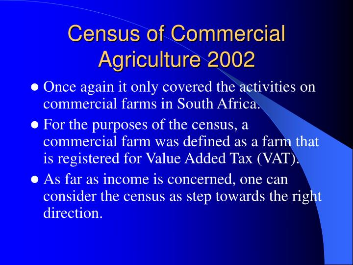 Census of Commercial Agriculture 2002