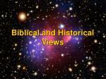 biblical and historical views