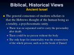 biblical historical views ancient israel