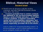 biblical historical views ancient israel1