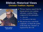 biblical historical views christian tradition aquinas
