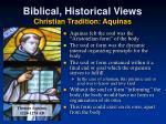 biblical historical views christian tradition aquinas1