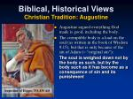biblical historical views christian tradition augustine1