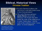 biblical historical views christian tradition