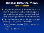 biblical historical views new testament
