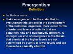 emergentism definition2