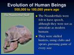 evolution of human beings 500 000 to 100 000 years ago2