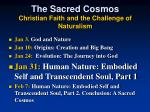 the sacred cosmos christian faith and the challenge of naturalism1