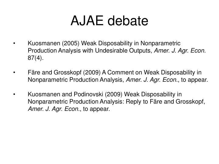AJAE debate