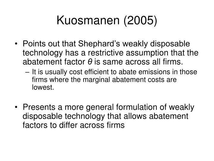 Kuosmanen (2005)