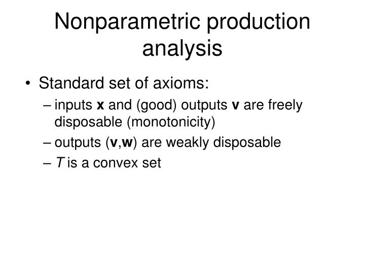 Nonparametric production analysis