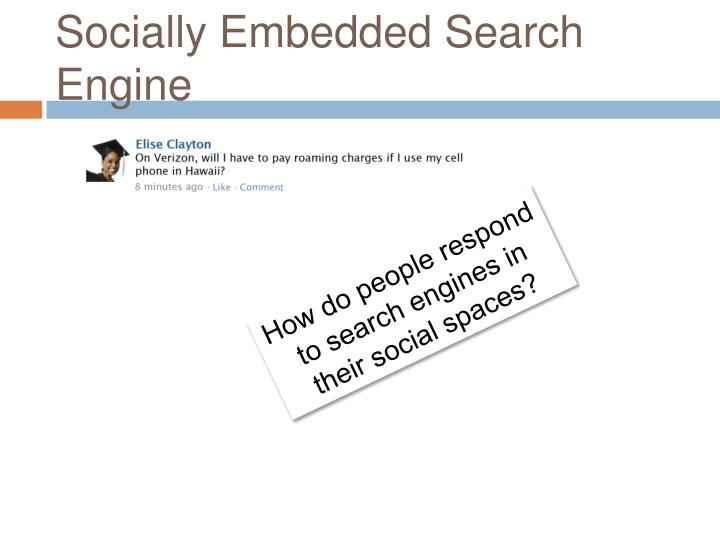 Socially Embedded Search Engine