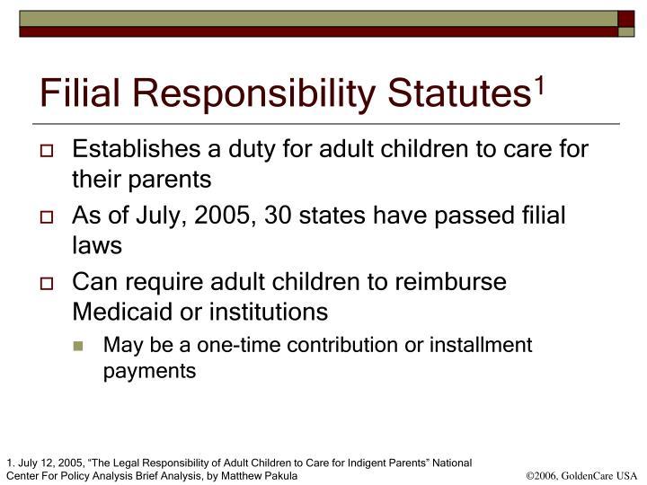Filial Responsibility Statutes