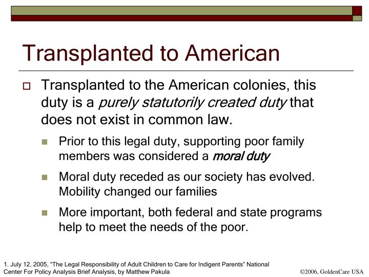 Transplanted to American