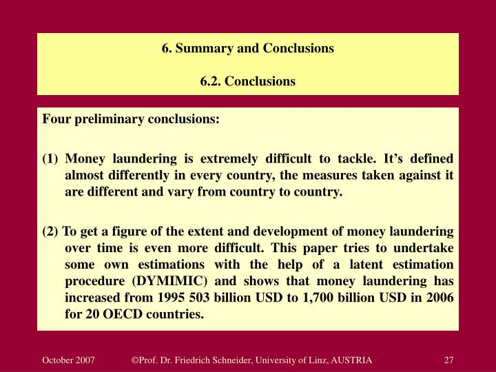 6. Summary and Conclusions
