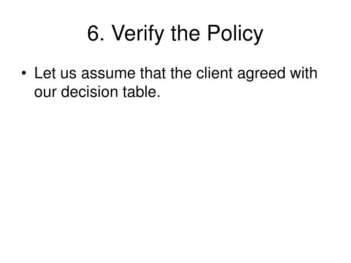 6. Verify the Policy