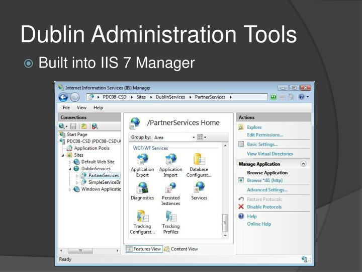 Dublin Administration Tools