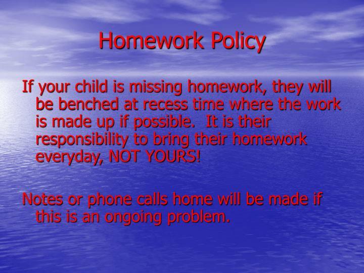 Homework Policy