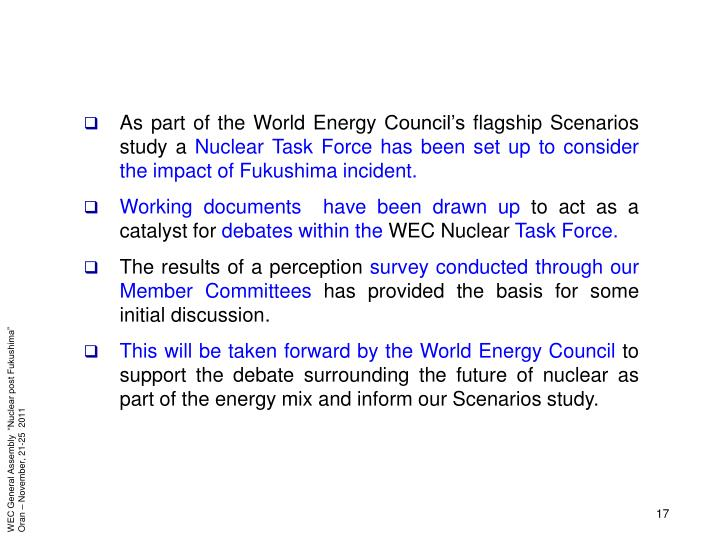 As part of the World Energy Council's flagship Scenarios study a
