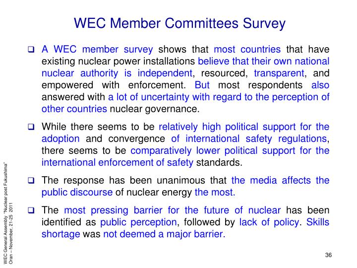 WEC Member Committees Survey