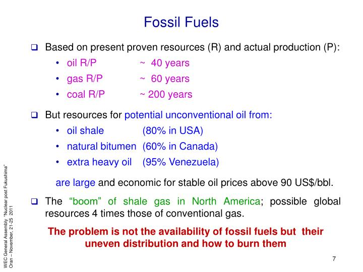Based on present proven resources (R) and actual production (P):