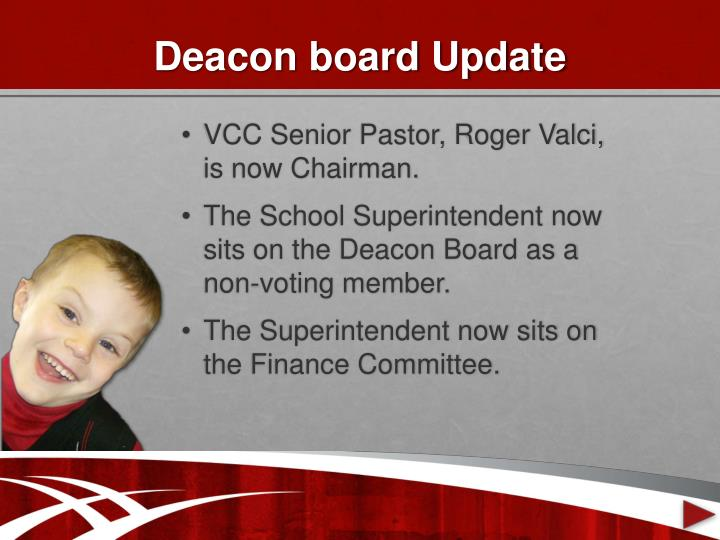 Deacon board update