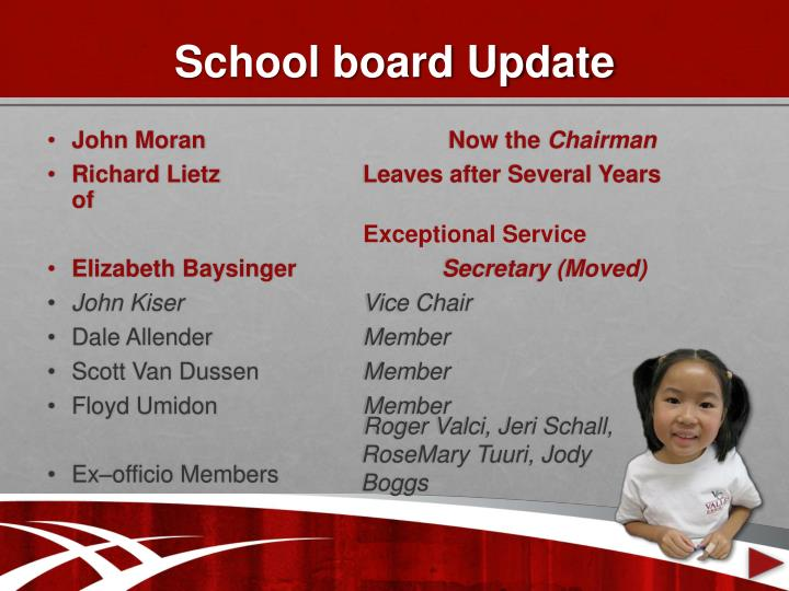 School board update