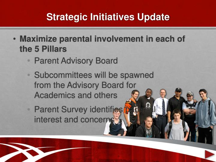 Strategic Initiatives Update