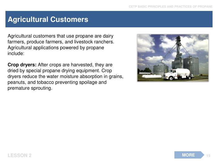 Agricultural Customers