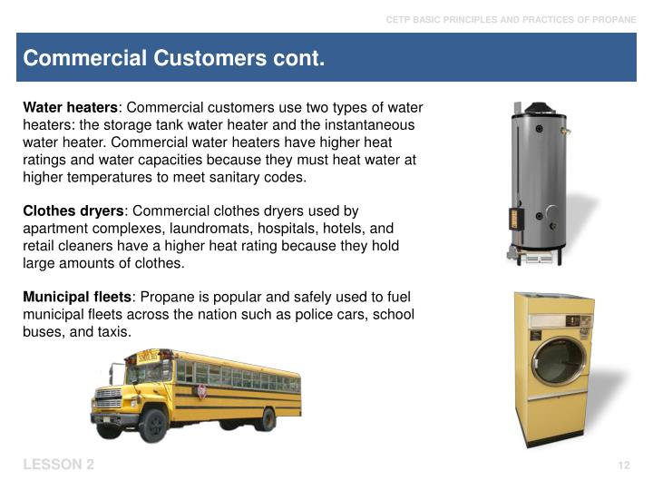 Commercial Customers cont.