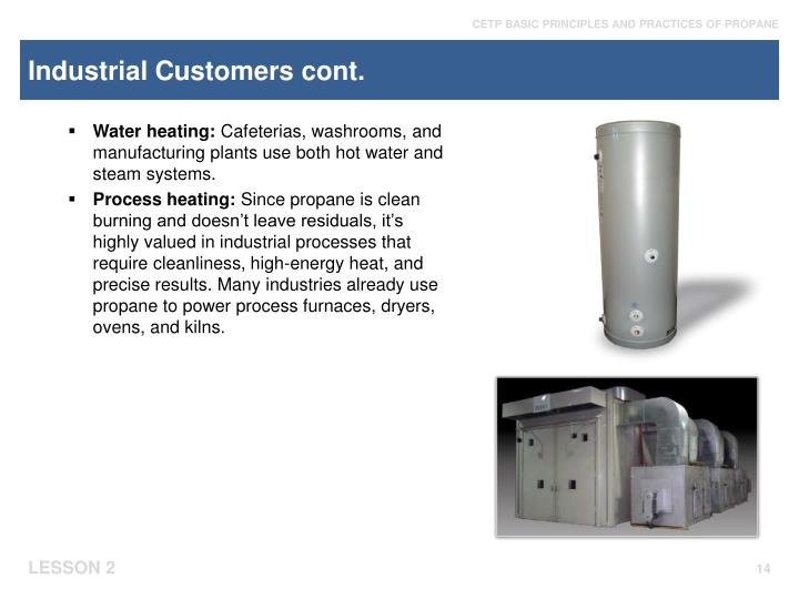 Industrial Customers cont.