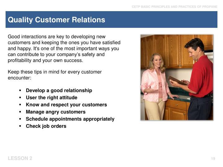 Quality Customer Relations
