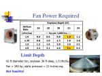 fan power required