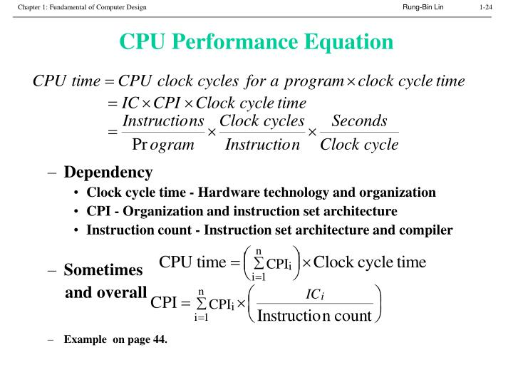 CPU Performance Equation
