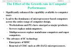 the effect of the growth rate in computer performance