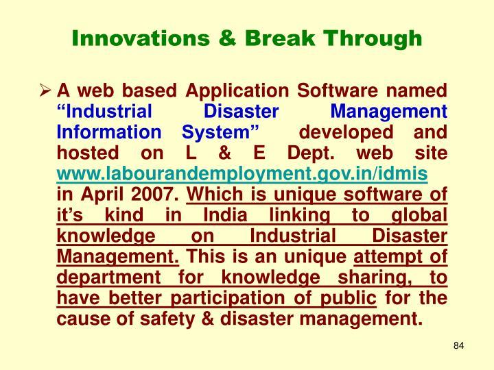 Innovations & Break Through