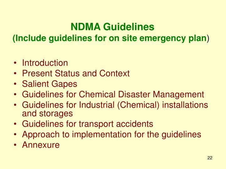 NDMA Guidelines