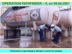 observation of gas leakage attempt to control by company