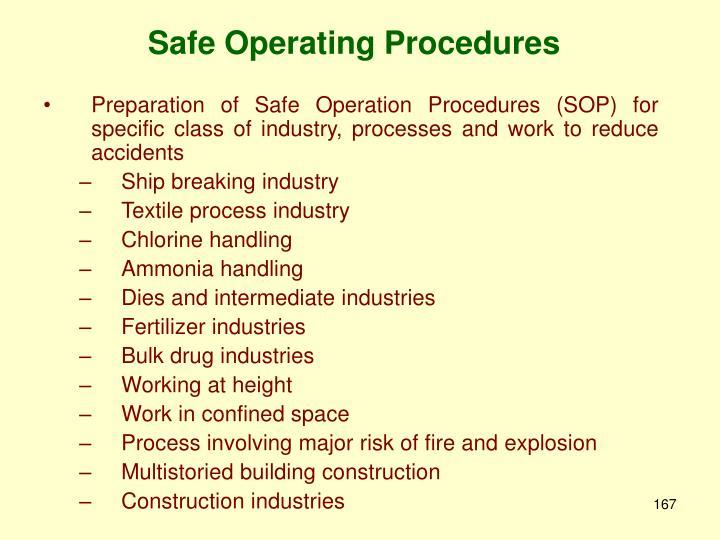Safe Operating Procedures