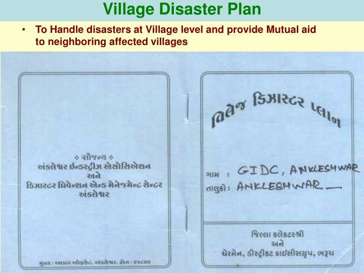 Village Disaster Plan