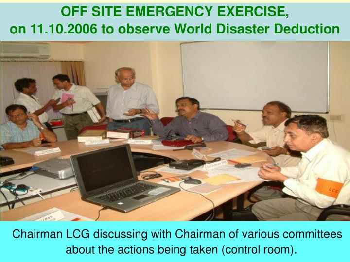 OFF SITE EMERGENCY EXERCISE,